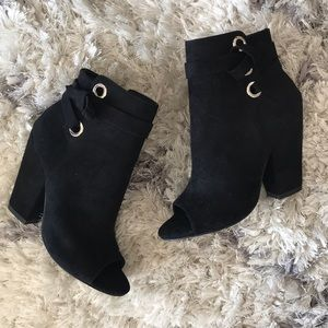 Just Fab Remy Open Toe Booties